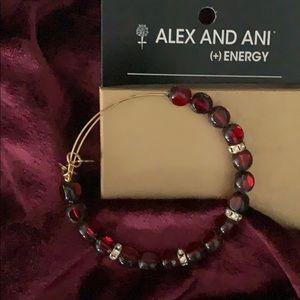 🌹Alexis and Ani Crimson Glass& Crystal Bangle🌹